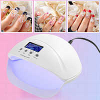 brand new 50W nail dryer UV LED nail lamp manicure dryers detachable bottom with 3 timer setting for nail curing gel nail polish