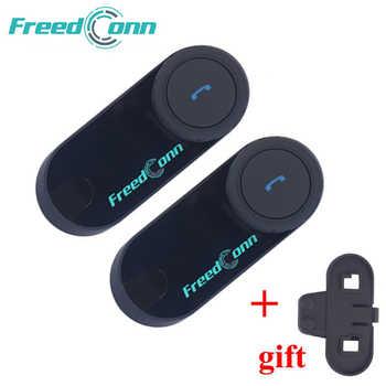 2 pcs FreedConn T-COM VB Helmet Headset 800M Bluetooth Interphone Motorcycle Intercom with FM Radio + Extra Clip - Category 🛒 Automobiles & Motorcycles