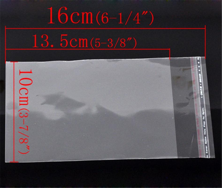DoreenBeads 200 Clear Self Adhesive Seal Plastic Bags 16x10cm (B10429), Yiwu