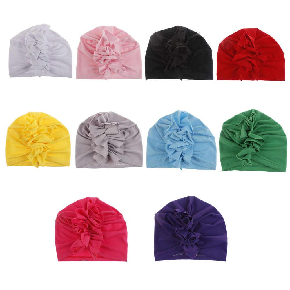 כפת כובע Bowknot טורבן תינוק כובע Bowknot יילוד תינוק פעוט צילום לנשימה בארה 'בארה' כובע סרט מטפחת