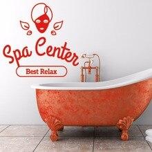 Large Beauty Salon Vinyl Wall Decal Spa Centre Best Relax Rest relaxation Sticker Reomvable Shop Window Decoration L858