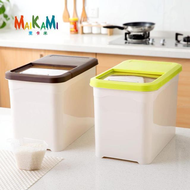 Kitchen Storage Organizer 10Kg Grain Storage Container Rice Holder