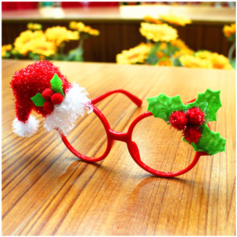 Children's New Fashion Christmas Party Supplies Christmas Decoration Glasses Frame