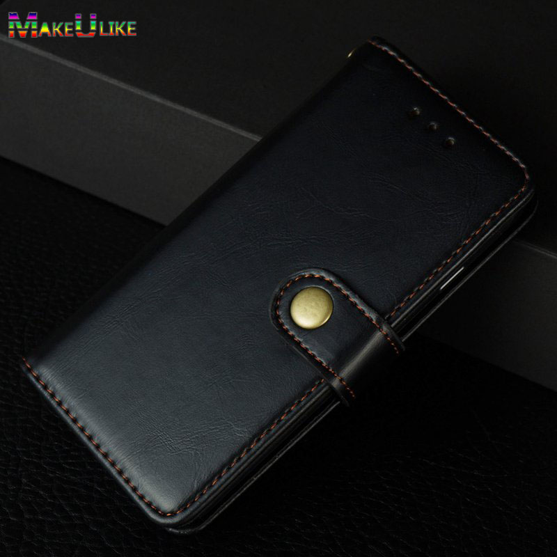 MAKEULIKE Flip Case For iPhone 5 5S SE Case Metal Button PU leather Phone wallet Case for Apple iPhone 5 5S SE Cover