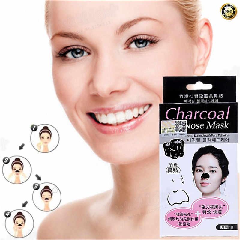 Bambou charbon masque visage soin de la peau soin du visage traitement acné boutons point noir crème blanchissante hydratant enlever cicatrice 1 pièces