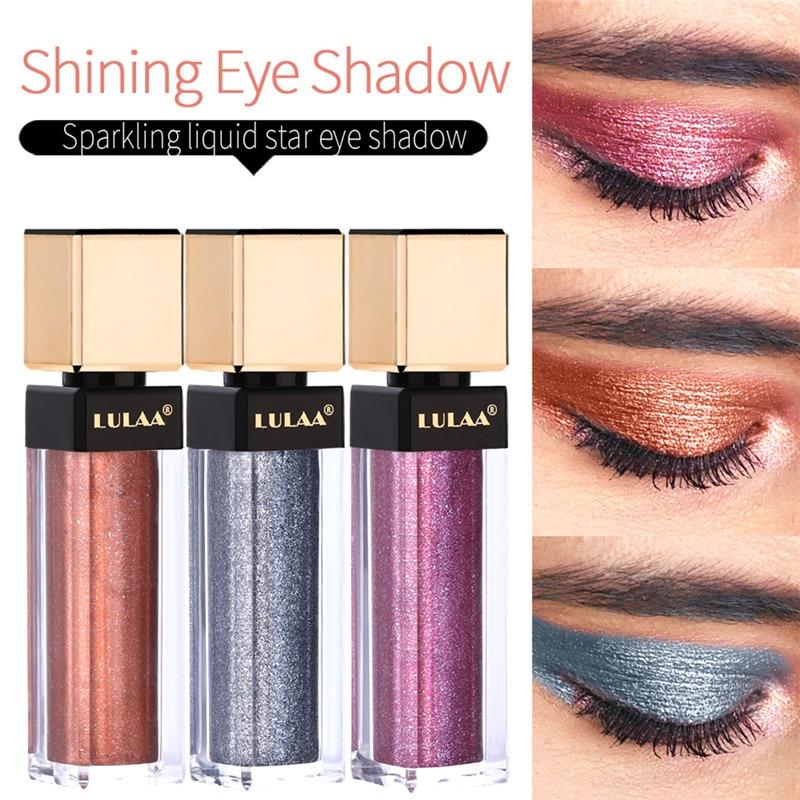 Lulaa 12 Colors Waterproof Shimmer Eye Shadow Liquid Metallic Pigment Glitter Liquid Eyeshadow Stick Cosmetics Women Makeup Beauty Essentials Beauty & Health