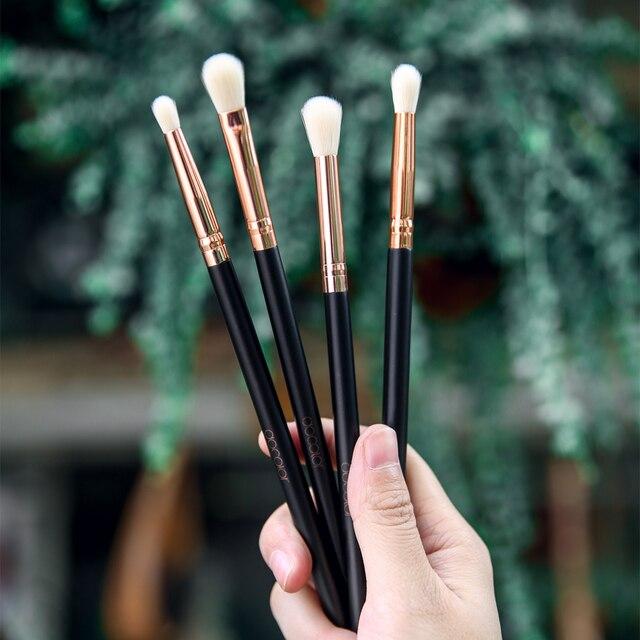 Docolor Makeup Brushes 4PCS Eyeshadow Brush Blending Eyebrow Make Up Brushes Synthetic Bristles Beauty Cosmetics Brush Set 6