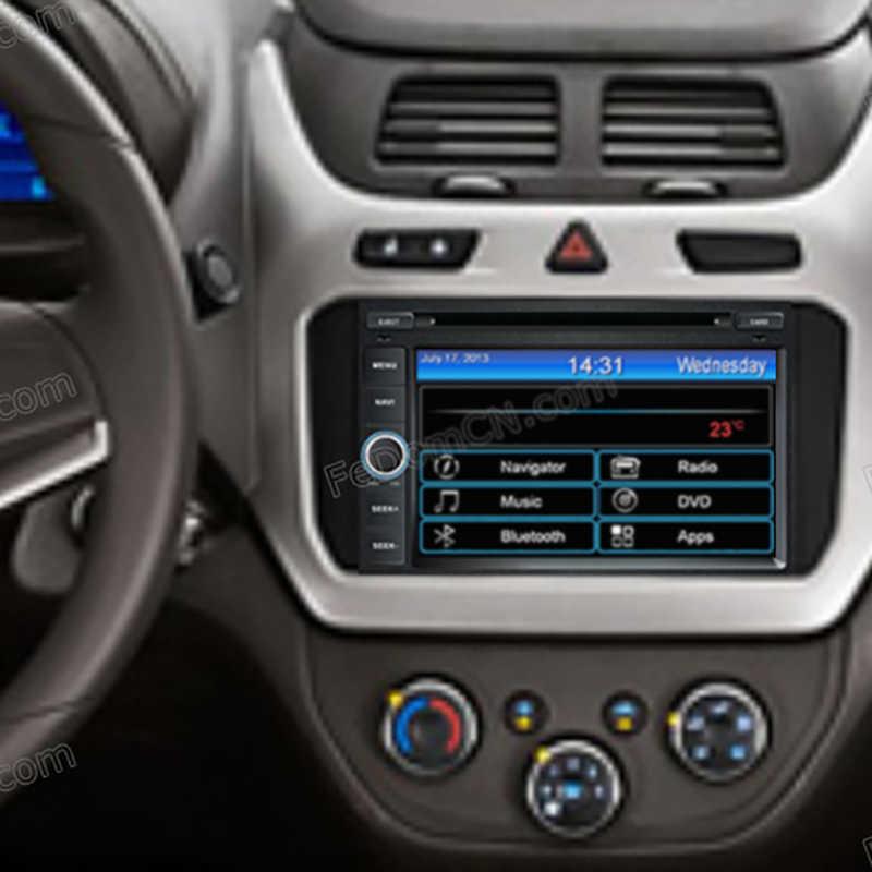 7 inch Mobil DVD Player Untuk Chevrolet Cobalt Onix Spin 2012-dengan Radio RDS Audio GPS Gratis Kamera Gratis peta