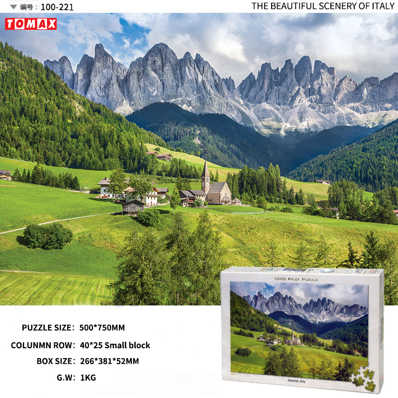 Genuine adult jigsaw puzzle, 4000 pieces of /1000, Italy scenery, multi specification puzzle toys puzzle 1000 горный бык 29745