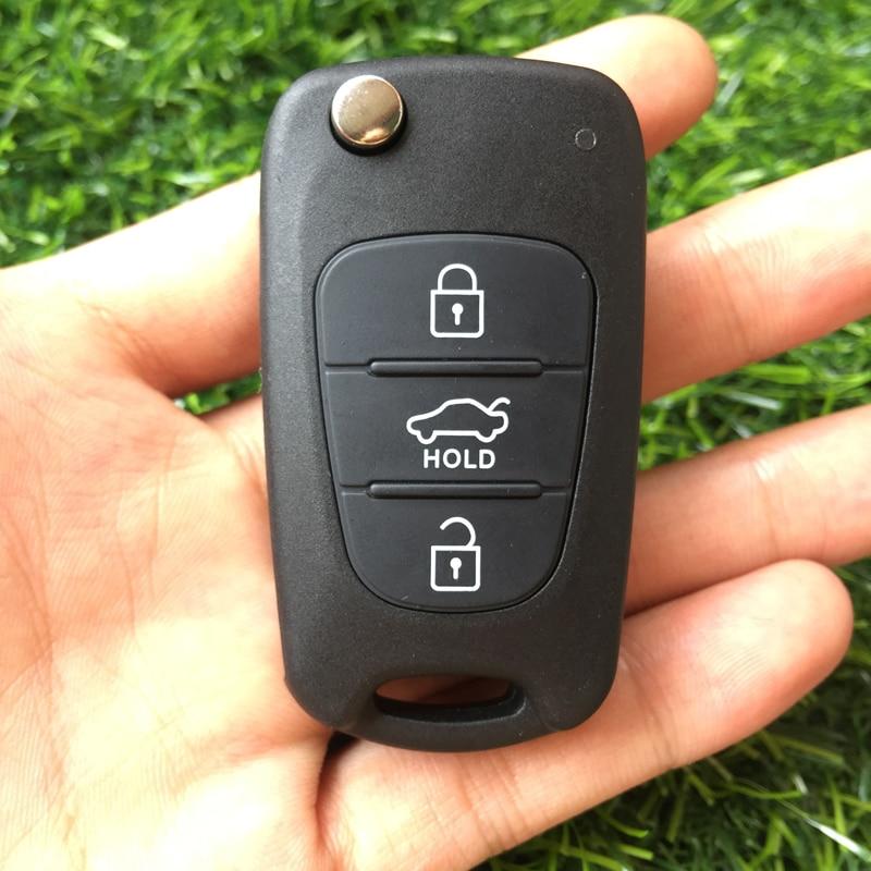 Image 4 - 10pcs 3 Button Remote Key shell Fob For Hyundai Avante I30 IX35 For Kia K2 K5 Sorento Sportage Folding Car Key blank cover case-in Car Key from Automobiles & Motorcycles