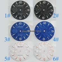 Kit de cadran de montre goutte de 36.8mm ETA 6497,Seagull st36 Faces montre pour hommes mécaniques (6 Styles de visages)