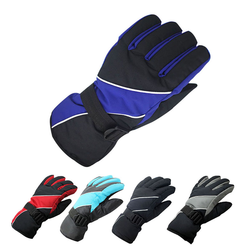 Unisex Windproof Warm Ski Riding Gloves Mountain Skiing Snowmobile Waterproof Snow Climbing Cycling Motorcycle Gloves Outdoor