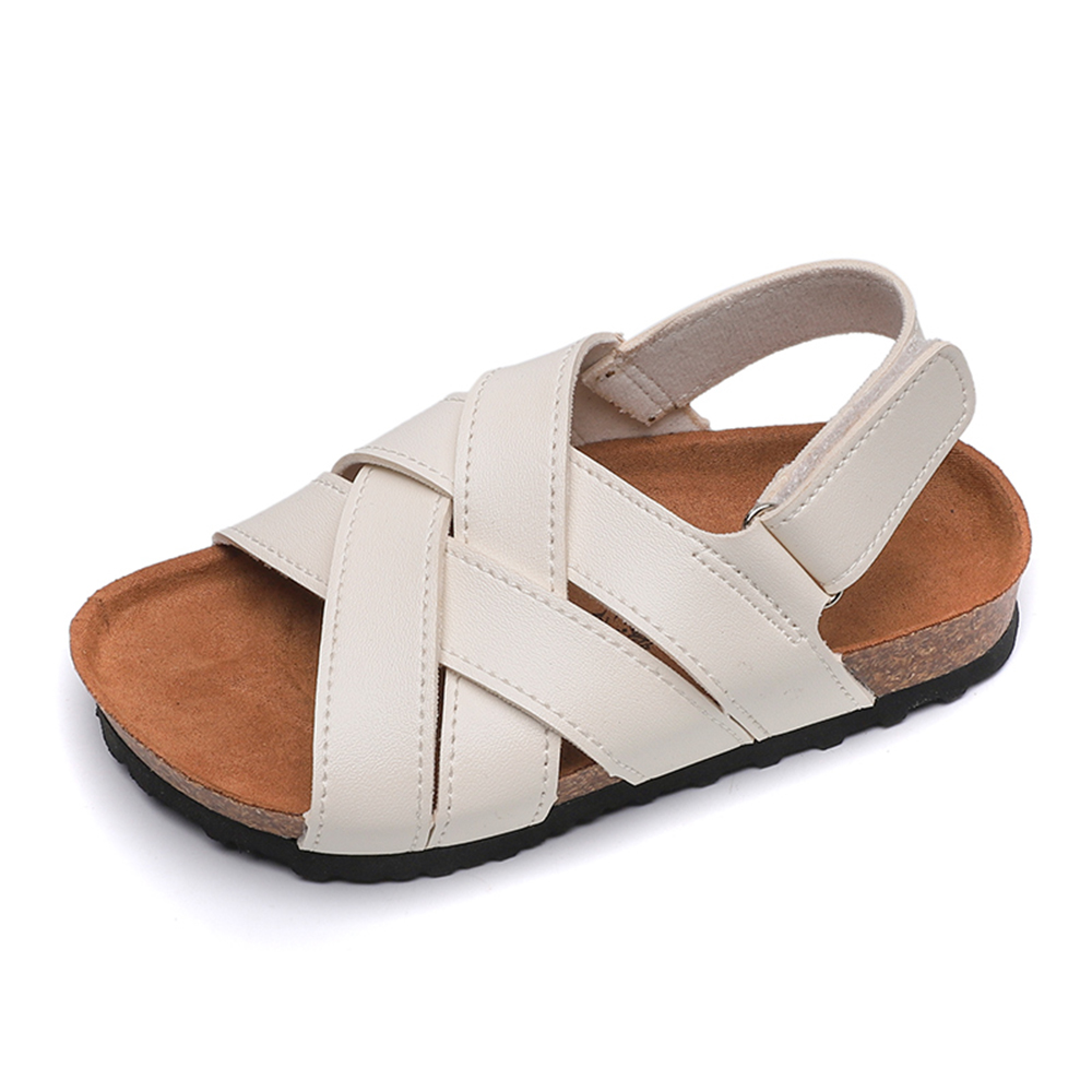 Toddler Girls Kids Summer Sandals Beach Occasion Shoes Leather Insole Size 3-8