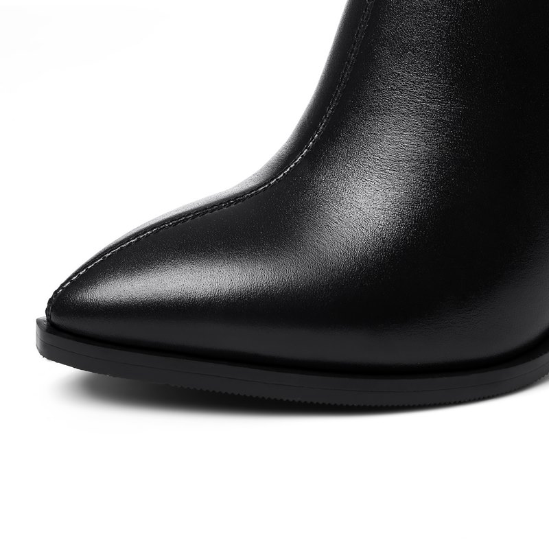 À Plush Cuir Allbitefo Mode Épais No D'hiver Inside Véritable Bottes plush Creux Talons Chaussures Inside Inside no Talon Rétro Femmes Conception Hauts Cheville zzTxpnrq