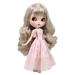 ICY DBS lalki Blyth 1/6 bjd biała skóra wspólne body śliczne srebrne loki włosów nowy matowy twarz z brwi Lip połysk sd wysokiej jakości t