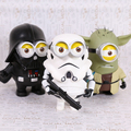 "Despicable Me Minion Cosplay Yoda de Star Wars Darth Vader Stormtrooper PVC Action Figure Collectible Modelo Toy 8 ""20 cm"