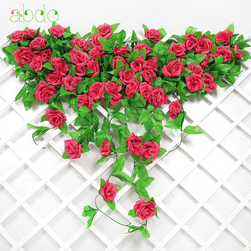 1Pcs  Roses Artificial Flowers String Non-woven Fabrics  Wedding  Valentine's Day  Decoration  Faux  Decoration Home