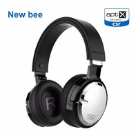 New Bee Active Noise Cancelling Headphone Wireless Charge Headset Bluetooth Stereo Headphone With Case Wireless Stand