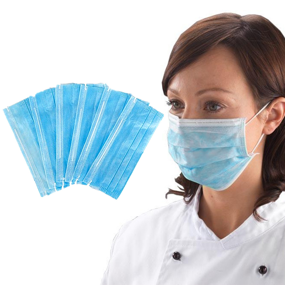 20/100pcs Disposable Facial Protective Cover Masks Set 3 Layers Dustproof Mask Anti-Dust Salon Earloop Face Masks