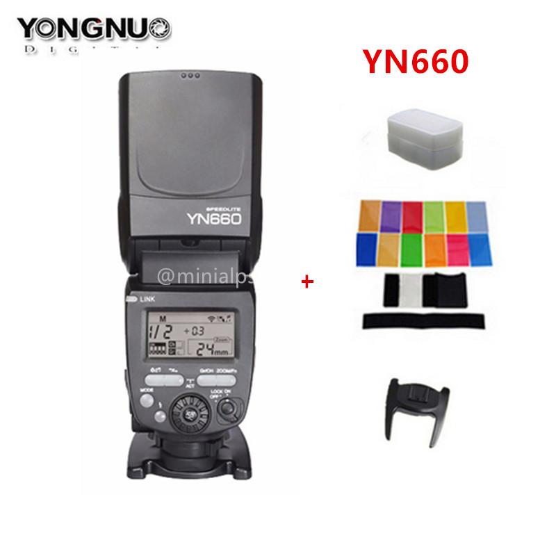 Prix pour YONGNUO YN660 2.4 GHz Flash Speedlite Sans Fil Émetteur-Récepteur Intégré pour Canon Nikon Pentax Olympus DSLR Caméras de YN560iv