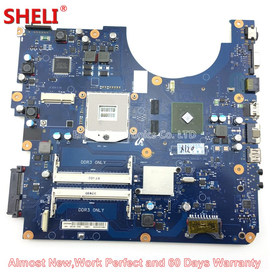 SHELI BA92-06128A BA92-06128B Laptop Motherboard For Samsung R580 NP-R580 BREMEN-M BA41-01175A GT 310M Main Board System Board 100% working laptop motherboard for samsung rv420 ba92 08731b series mainboard system board