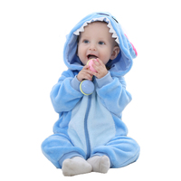 0 2 Years Old Baby Girls Boys Romper Newborn Jumpsuit Long Sleeve Blue Stitch Baby Clothes