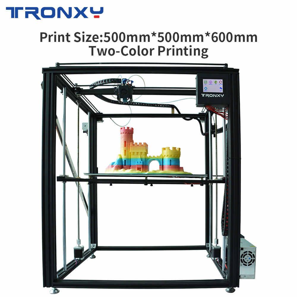 TRONXY طابعة ثلاثية الأبعاد X5ST-500-2E ثنائي اللون لتقوم بها بنفسك آلة النوى الطباعة كبيرة الحجم MK8 الطارد