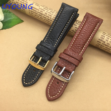 Quality Genuine Leather Watchband 20mm 22mm For Mens For Pebble Time Steel/Steel 2/Smart Watch/Round mens
