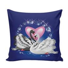 Couple Swan Sofa Bed Home Decoration Festival Pillow Cushion Decorative Wholesale Solid Pillow #5(China)