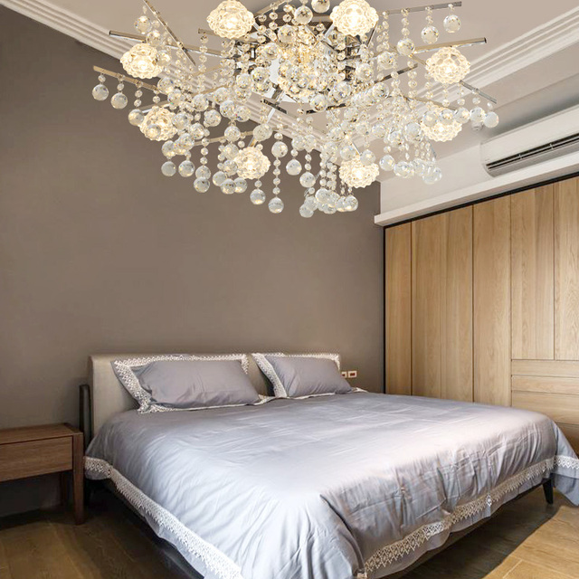 crystal ceiling lamp bedroom led living room simple modern atmospheric luxury restaurant lights led ceiling lamp led lighting