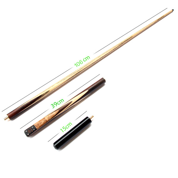 ФОТО High Quality 3/ 4 Snooker Cues Handmade 9.8mm/11.5mm Tips 145cm With Extension 15cm Ash Wood Hand Crafted Cue China 2016