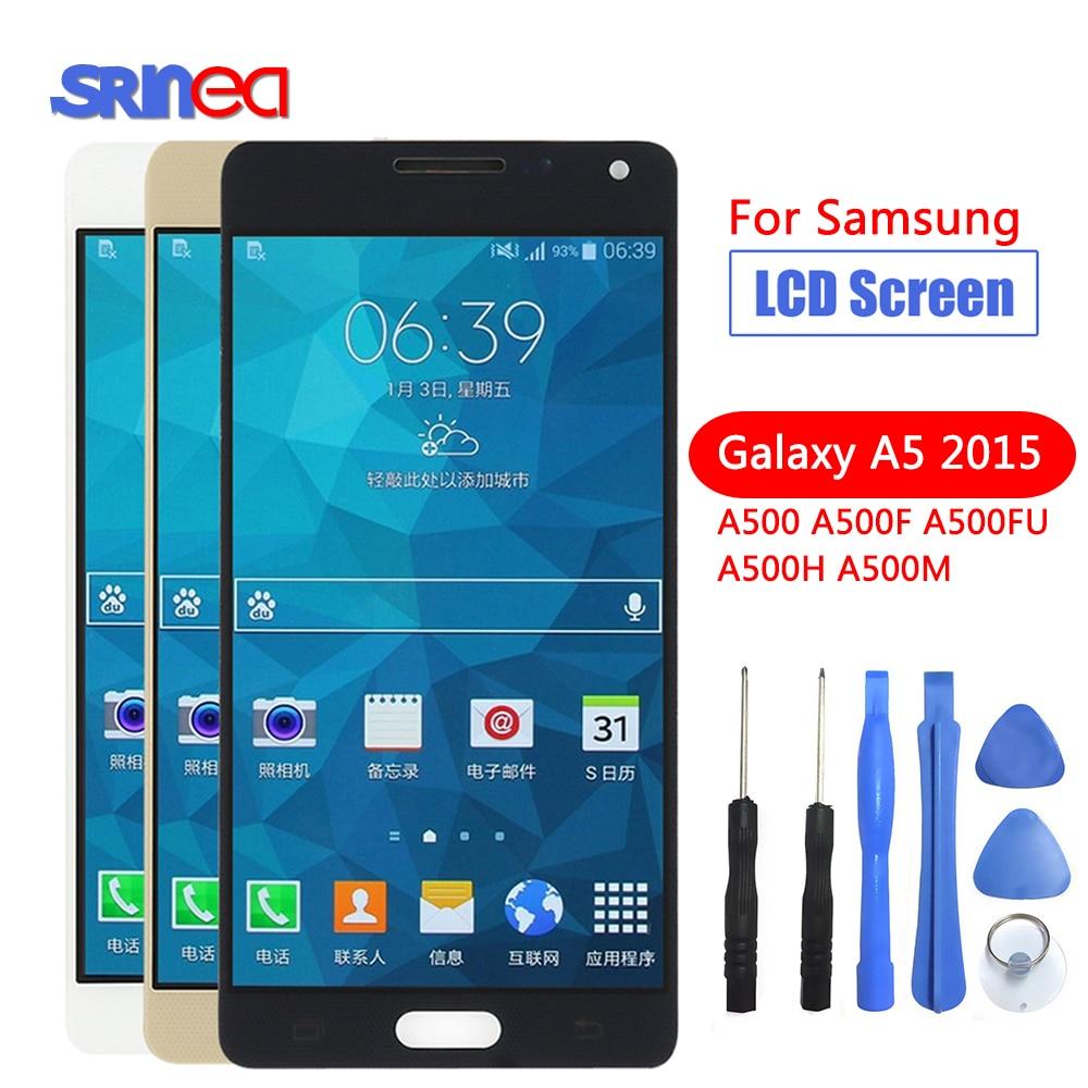 AAA 100% тестовый ЖК экран в сборе для Samsung Galaxy A5 2015 A500 A500F A500FU A500M A500Y A500FQ Замена ЖК дисплей Дисплей-in ЖК-экраны для мобильного телефона from Мобильные телефоны и телекоммуникации