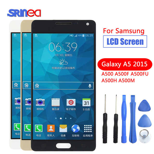 AAA 100% Tested LCD Screen Assembly For Samsung Galaxy A5 2015 A500 A500F A500FU A500M A500Y A500FQ Replacement LCD Display