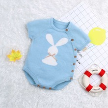 Baby Bodysuits Summer 2019 Newborn Easter Onesie Tops Cute Rabbit Pattern Toddler Infant Coveralls Childrens Jumpsuits Costumes
