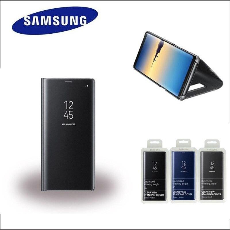 100% Original SAMSUNG officiel vue claire coque socle couverture pour SAMSUNG Galaxy Note8 N9500 N950F