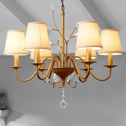 Krajem ameryki kutego żelazny żyrandol oświetlenie europejskiej willa stara lampa nowoczesny salon sypialnia badania kryształowy żyrandol