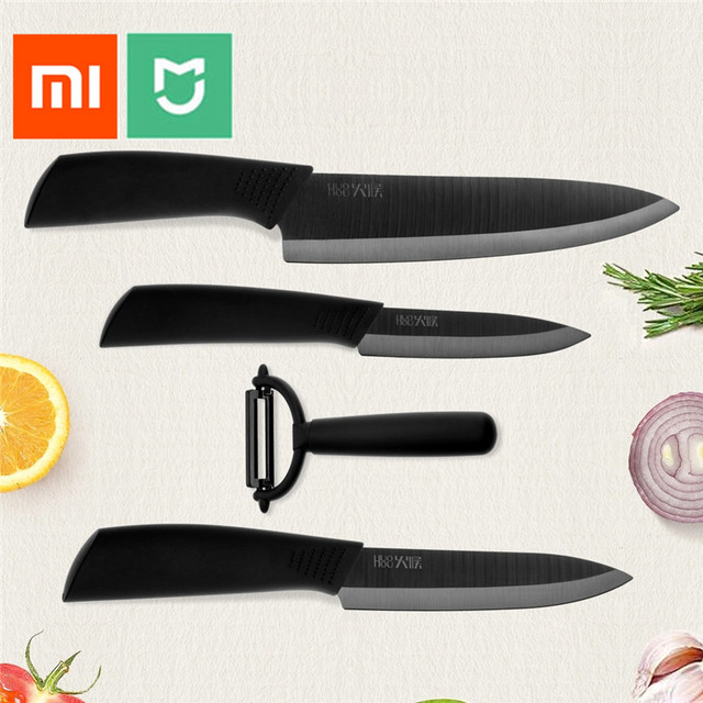 Xiaomi Mijia Home Ceramic Knife Set 4 Pieces Origional Huo Hou Nan o Technology Healthy and Environmental Protection