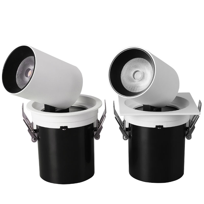 NEW High quality cabinets CREE LED stretch downlight 12W 20W clothing embedded telescopic downlight shell double grille lampNEW High quality cabinets CREE LED stretch downlight 12W 20W clothing embedded telescopic downlight shell double grille lamp