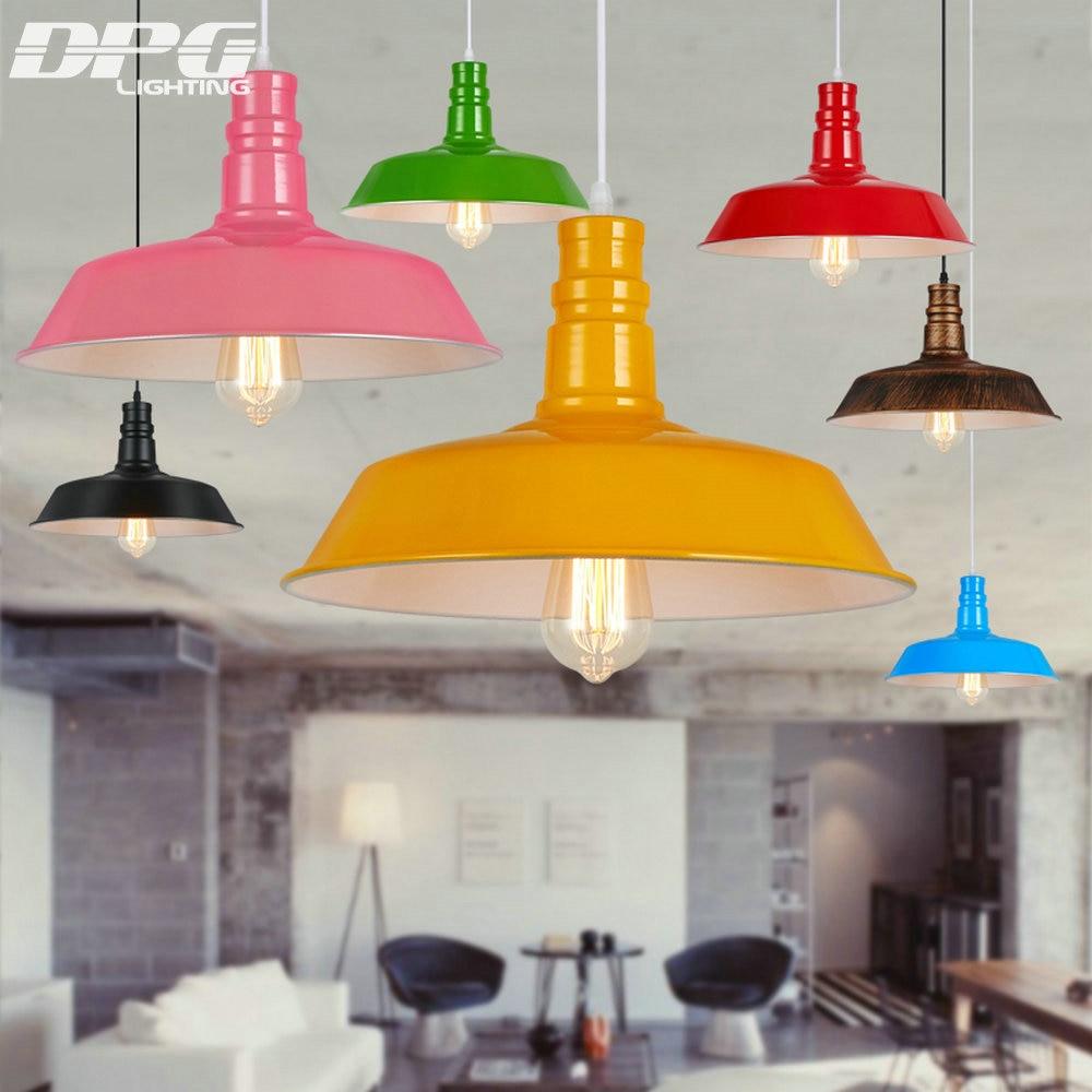 Podstrešje D 26,36,46cm Vintage industrijski obesek razsvetljava LED - Notranja razsvetljava - Fotografija 2