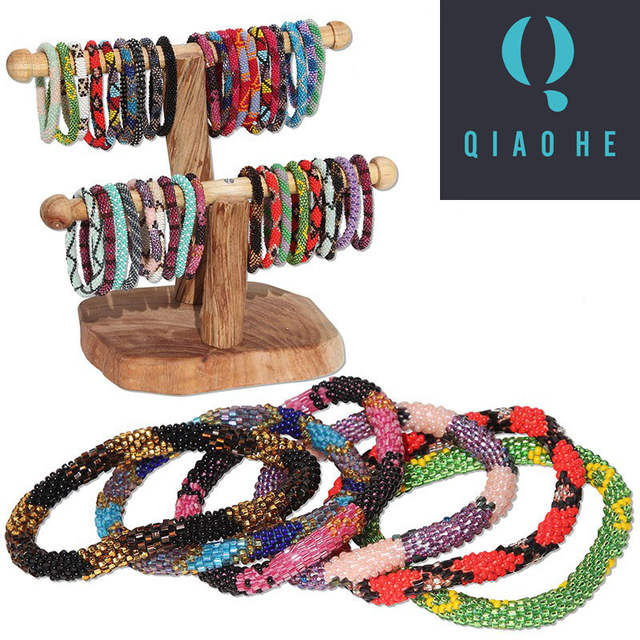 Fashionable Handmade Nepal glass beaded bracelets The best unique gifts  10PCS
