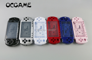 Image 1 - OCGAME עבור PSP2000 PSP 2000 רב צבע מלא שיכון מקרה מעטפת שלמה מקרה החלפה עם כפתורי ערכה