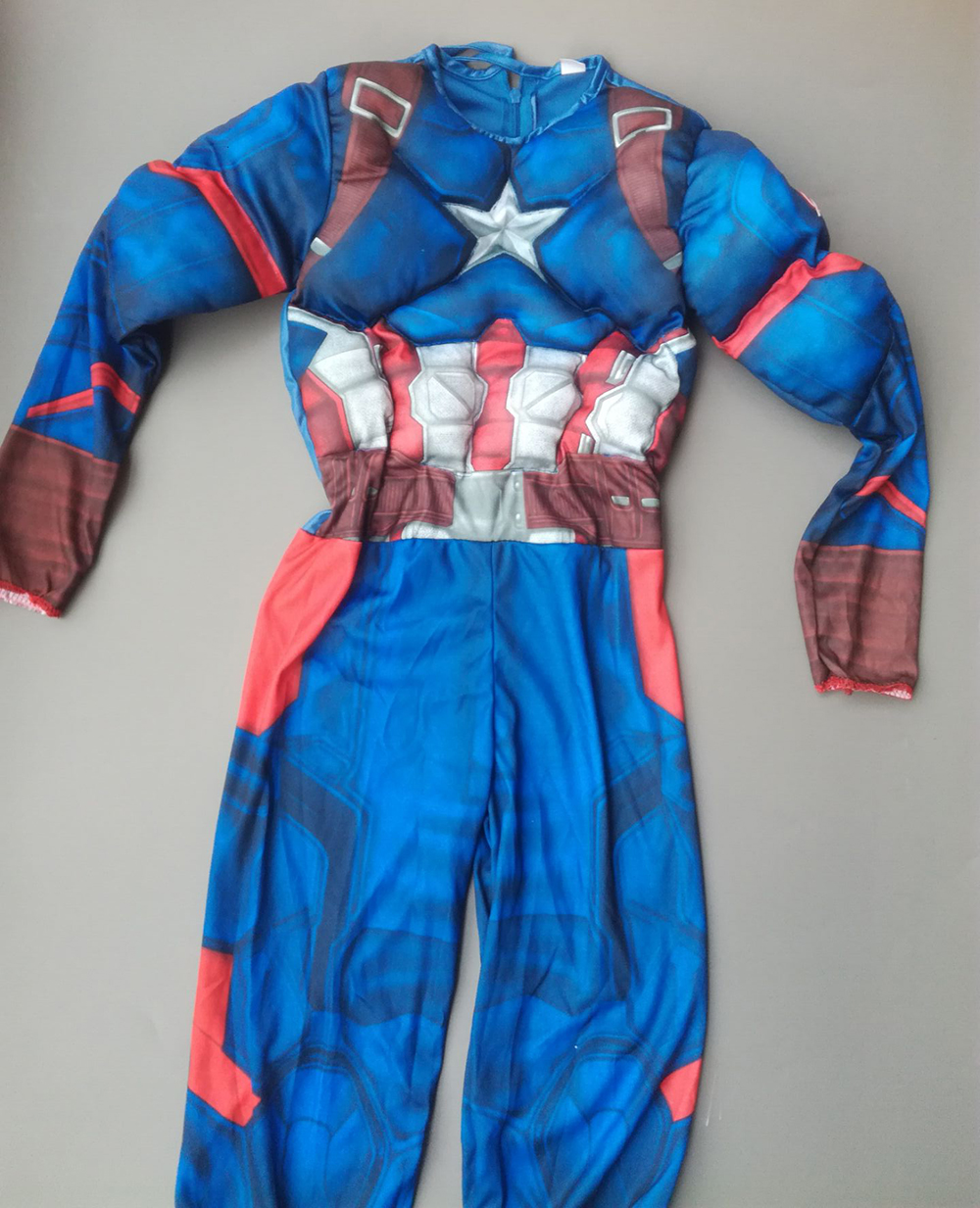 Superhero Kids Muscle Captain America Kostym Avengers Child Cosplay - Nye produkter - Bilde 5