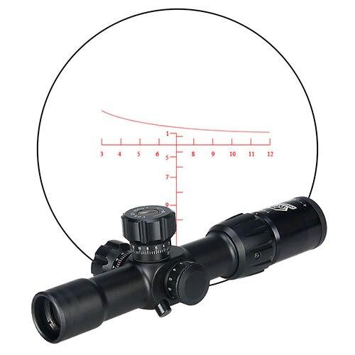 Canis Latrans 새 도착 1-4x24IRF 라이플 범위 방수 300mm 깊고 안개 사냥 및 야외 사용 gs1-0278