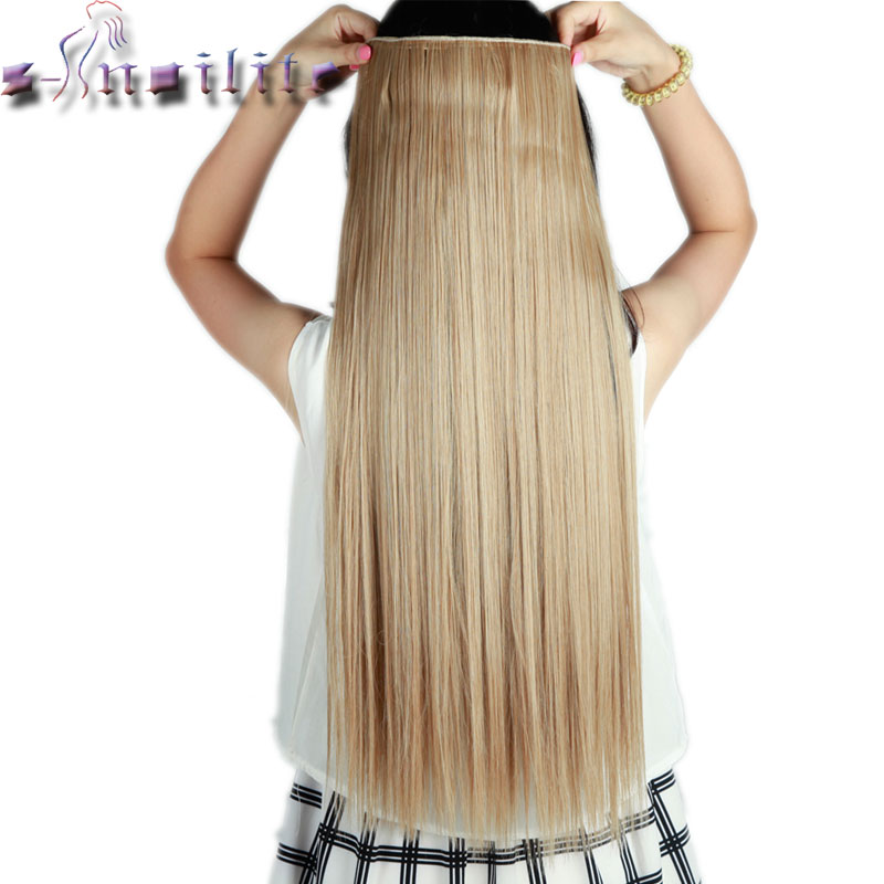 Useful Soowee 20 Colors Long Straight Women Hair Synthetic Clip In Hair Extension Black Grey High Temperature Fiber Hairpiece Latest Fashion Hair Extensions & Wigs