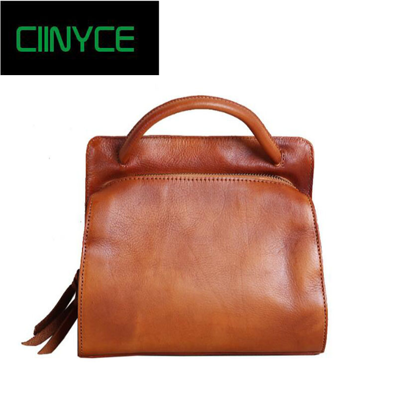 Genuine Leather Handbag High Quality Cow Skin Vintage Fashion Office Lady Retro Casual Totes Women Cross body Hand shoulder bags рюкзак thule stir 35l mens dark forest 3203544