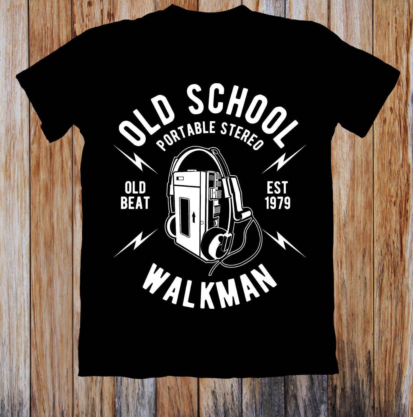 オールドスクールウォークマンレトロユニセックス Tシャツホワイトブラックグレーレッドズボン tシャツスーツ帽子ピンク tシャツレトロなヴィンテージ古典的な tシャツ