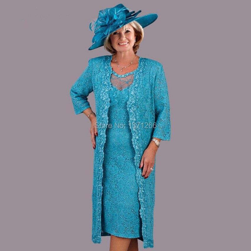 New Design Lace Three Quarter Mother Of The Bride Dresses 2016 Fashionable Sheath vestido de madrinha (2)