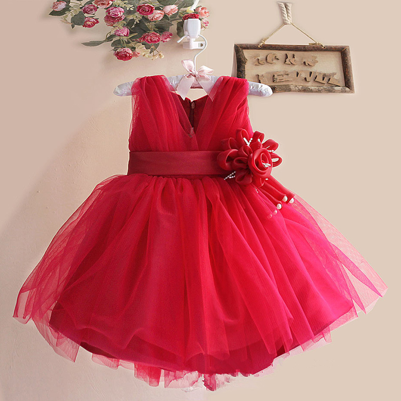 Flower Girl Dresses for Wedding Pageant Lace Communion Dress for Girls Toddler Child Prom Dresses Ball Gown For Birthday Party 15 color infant girl dress baby girl pageant dress girl party dresses flower girl dresses girl prom dress 1t 6t g081 4