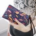 Calidad de Impresión de Dibujos Animados Mujeres de las Carpetas del Monedero Larga Cartera de Diseño Marca Plegable Monederos de Las Señoras Carteras Bolsos de Embrague del bolso