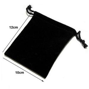 Image 2 - 100pcs/lot 5x7, 7x9, 8x10, 10x12cm Drawstring Velvet Bags & Pouches Jewelry Bags Gift Packaging Bag Customize Custom Print Logo